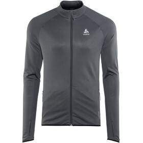 Odlo FLI Full Zip Midlayer Men black-odlo graphite grey-stripes